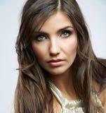 Στενό επάνω πορτρέτο ομορφιάς προσώπου γυναικών Θηλυκό μοντέλο Στοκ Φωτογραφίες