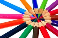 στενό λευκό μολυβιών χρώματος ανασκόπησης επάνω στοκ εικόνα με δικαίωμα ελεύθερης χρήσης