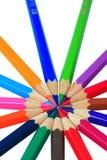 στενό λευκό μολυβιών χρώματος ανασκόπησης επάνω στοκ φωτογραφίες με δικαίωμα ελεύθερης χρήσης
