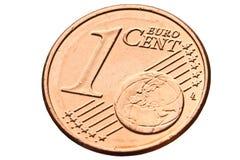στενό ευρώ ένα σεντ επάνω Στοκ φωτογραφία με δικαίωμα ελεύθερης χρήσης