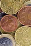 στενό ευρώ νομισμάτων επάνω Στοκ Εικόνα