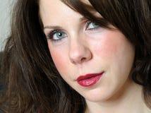 στενό θηλυκό πορτρέτο επάν&om Στοκ Εικόνες