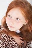 στενό κορίτσι λίγο πορτρέτο επάνω Στοκ Φωτογραφία