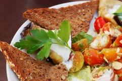 στενό λαχανικό σαλάτας colorfull &ph στοκ φωτογραφία