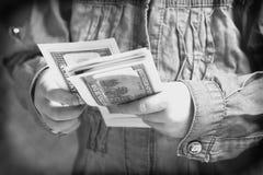 στενό δολάριο λογαριασ& Στοκ εικόνα με δικαίωμα ελεύθερης χρήσης