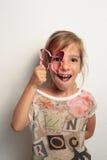 στενό παιχνίδι κοριτσιών επάνω Στοκ φωτογραφία με δικαίωμα ελεύθερης χρήσης
