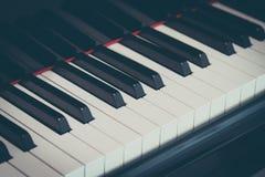 στενό πιάνο πλήκτρων επάνω Στοκ Εικόνες