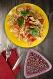 στενό πιάτο ζυμαρικών επάνω Στοκ Εικόνες