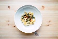 στενό πιάτο ζυμαρικών επάνω Στοκ Φωτογραφίες