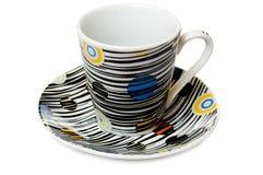 στενό πιάτο φλυτζανιών καφέ  στοκ εικόνες