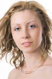 στενό πορτρέτο UPS κοριτσιών Στοκ Εικόνα