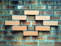 στενό πρότυπο τούβλου επάνω στον τοίχο Στοκ Εικόνα