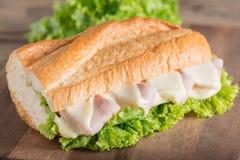στενό σάντουιτς ζαμπόν τυριών επάνω Στοκ Εικόνα