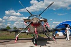 στενό στήριγμα αεροπλάνων επάνω Στοκ Φωτογραφία
