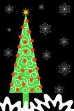 στενό ψηλό δέντρο Χριστου&gamm διανυσματική απεικόνιση