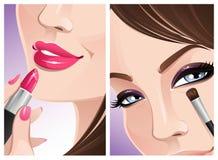 στενό makeup επάνω διανυσματική απεικόνιση