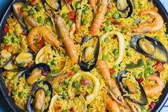στενό paella ισπανικά επάνω Στοκ Εικόνες