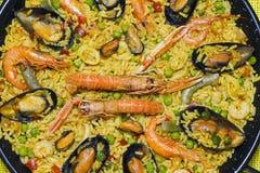 στενό paella ισπανικά επάνω Στοκ φωτογραφία με δικαίωμα ελεύθερης χρήσης