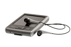 στενό pda ακουστικών επάνω Στοκ Εικόνα