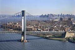 στενό s verrazano γεφυρών στοκ φωτογραφία