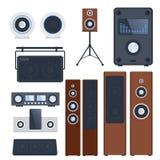 Στερεοφωνική επίπεδη διανυσματική τεχνολογία εξοπλισμού φορέων μεγάφωνων μουσικής εγχώριων ηχητικών συστημάτων subwoofer Στοκ φωτογραφίες με δικαίωμα ελεύθερης χρήσης
