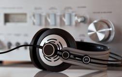 στερεοφωνικός τρύγος ακουστικών ενισχυτών στοκ εικόνες