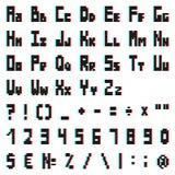 Στερεοφωνικό αλφάβητο εικονοκυττάρου με την επίδραση ανάγλυφων Στοκ Εικόνα
