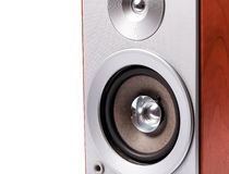 Στερεοφωνικό ηχητικό σύστημα που απομονώνεται στο άσπρο υπόβαθρο Στοκ Φωτογραφία