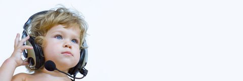 στερεοφωνικό συγκρότημα εμβλημάτων μωρών Στοκ φωτογραφία με δικαίωμα ελεύθερης χρήσης