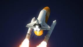 Στερεός χωρισμός ενισχυτών πυραύλων διαστημικών λεωφορείων διανυσματική απεικόνιση