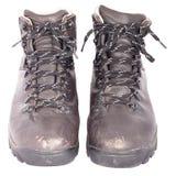 στερεό παπουτσιών δέρματος πεζοπορίας χρησιμοποιούμενο Στοκ φωτογραφίες με δικαίωμα ελεύθερης χρήσης