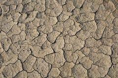 Στεριά, ραγισμένο έδαφος, χωρίς νερό Στοκ Εικόνες
