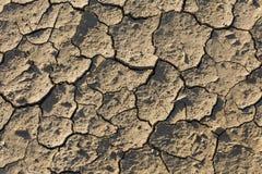 Στεριά, ραγισμένο έδαφος, χωρίς νερό Στοκ εικόνες με δικαίωμα ελεύθερης χρήσης