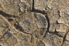 Στεριά, ραγισμένο έδαφος, χωρίς νερό Στοκ φωτογραφία με δικαίωμα ελεύθερης χρήσης