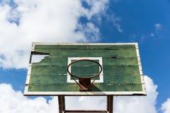 Στεφάνη καλαθοσφαίρισης χαλασμένη Στοκ Φωτογραφίες