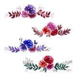 Στεφάνια Watercolor στην ελεύθερη σύγχρονη τεχνολογία Στοκ Εικόνες