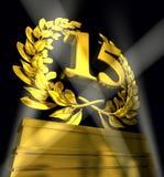 Στεφάνι δαφνών με τον αριθμό 15 Στοκ φωτογραφία με δικαίωμα ελεύθερης χρήσης
