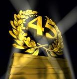 Στεφάνι δαφνών με τον αριθμό 45 Στοκ εικόνες με δικαίωμα ελεύθερης χρήσης