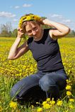 στεφάνι γυναικών λουλουδιών στοκ εικόνα με δικαίωμα ελεύθερης χρήσης