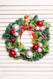 Στεφάνι διακοπών Χριστουγέννων Στοκ φωτογραφία με δικαίωμα ελεύθερης χρήσης