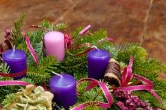 Στεφάνι εμφάνισης στεφανιών Χριστουγέννων με το διάστημα αντιγράφων Στοκ φωτογραφία με δικαίωμα ελεύθερης χρήσης
