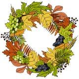 Στεφάνι ημέρας των ευχαριστιών για τις διακοπές που γράφει τη διανυσματική κάρτα διανυσματική απεικόνιση