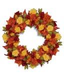 στεφάνι ημέρας των ευχαριστιών λουλουδιών φθινοπώρου διανυσματική απεικόνιση