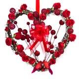 Στεφάνι καρδιών βαλεντίνου Στοκ Εικόνα