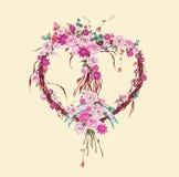 Στεφάνι καρδιών φθινοπώρου Στοκ Εικόνα