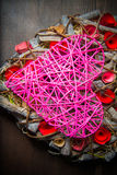 Στεφάνι καρδιών Στοκ φωτογραφία με δικαίωμα ελεύθερης χρήσης