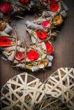 Στεφάνι καρδιών Στοκ εικόνες με δικαίωμα ελεύθερης χρήσης