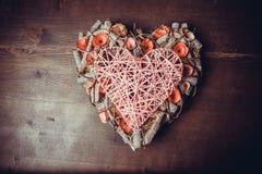 Στεφάνι καρδιών Στοκ Εικόνα