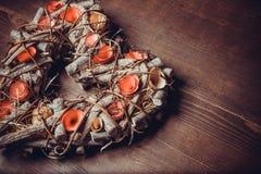 Στεφάνι καρδιών Στοκ Φωτογραφίες