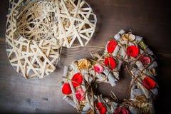 Στεφάνι καρδιών Στοκ φωτογραφίες με δικαίωμα ελεύθερης χρήσης